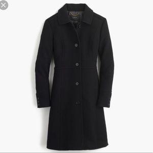 J. Crew 0P Lady Day Coat Jacket Italian Wool